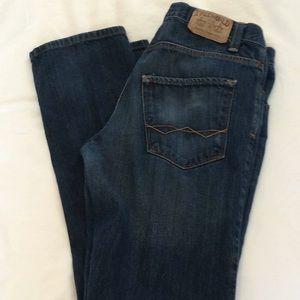 Free World men's jeans dark wash